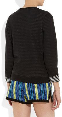 Kenzo Striped-lining cotton sweatshirt
