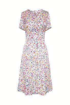 Gerard Darel Short Belted Floral Print Dress