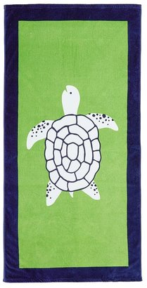 Pottery Barn Kids Green/Navy Turtle Beach Towel