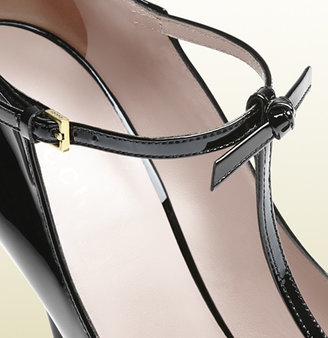 Gucci Patent Leather T-Strap Pump