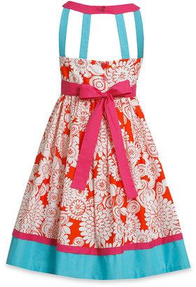 Bonnie Jean Girls Dress, Little Girls Printed Cage-Back Dress