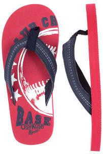 Osh Kosh Baseball Flip Flops