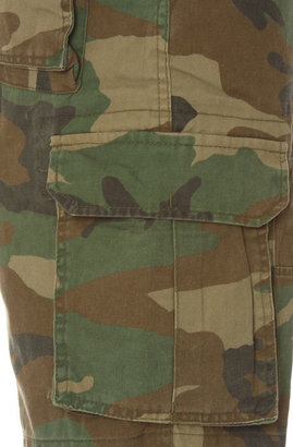 Camo Rothco The Vintage Paratrooper Cargo Shorts in Olive