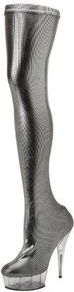 Pleaser USA Women's Delight-3005/B/HG Knee-High Boot