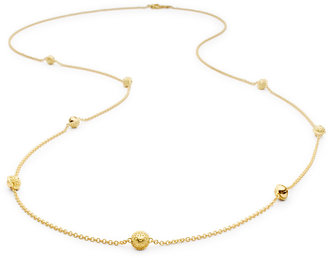 "Paul Morelli 18k Gold Jingle Meditation Bell Necklace, 36""L"