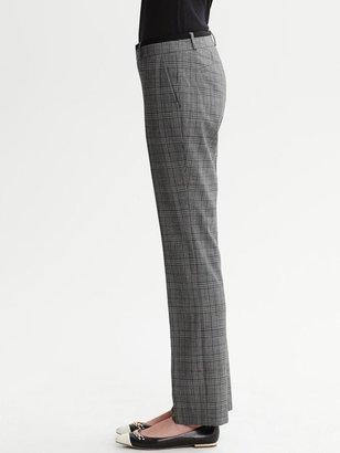 Banana Republic Martin-Fit Plaid Lightweight Wool Straight Leg