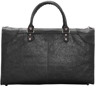 Balenciaga Giant 12 Rose Golden Work Bag, Black