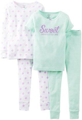 Carter's 4 Piece Pant PJ Set (Toddler/Kid) - Sweet Dreams-2T