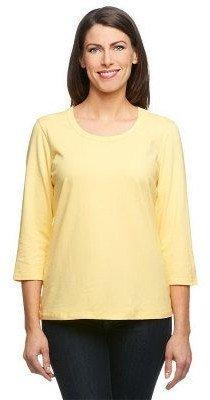 Denim & Co. Essentials Perfect Jersey 3/4 Sleeve Round Neck Top