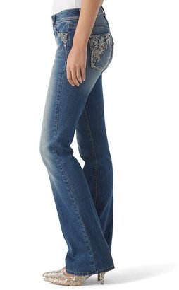 White House Black Market Baroque Embroidery Bootcut Jean