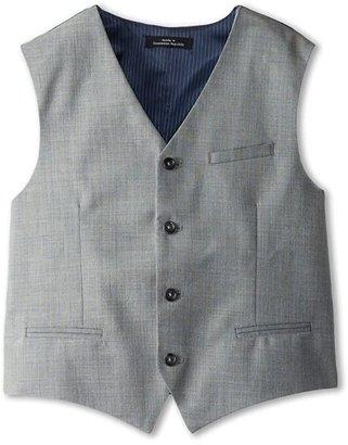 Calvin Klein Kids Sharkskin w/ Deco Vest (Big Kids) (Light Grey) Boy's Vest