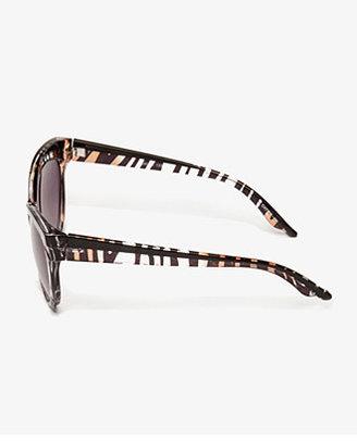 Forever 21 F2211 Zebra Print Cat-Eye Sunglasses