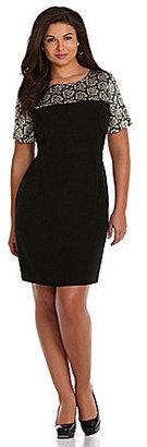 Vince Camuto Woman Crepe Lace-Print Dress