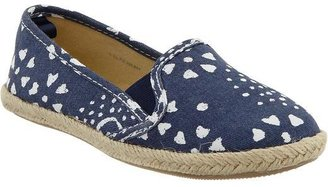 Old Navy Girls Printed Canvas Espadrille Flats