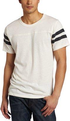 Alternative Men's Short Sleeve Football Tee Grey/True Navy 2X