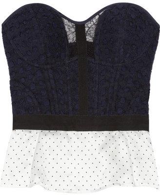 Nina Ricci Woven wool-blend bustier top