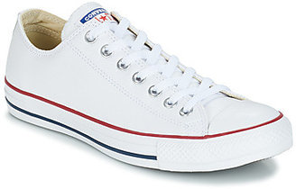 Converse LEATHER OX women's Shoes (High-top Trainers) in White