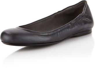 Stuart Weitzman Dotsnot Leather Ballerina Flat, Nero Pearl