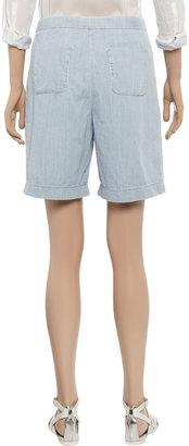 See by Chloe Cotton-chambray shorts