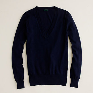 J.Crew Cotton V-neck sweater