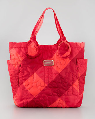 Marc by Marc Jacobs Pretty Nylon Tate Stacey Check Printed Medium Tote Bag, Pink