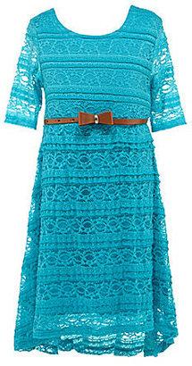 My Michelle 7-16 Hi-Low Lace Dress