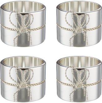 Vera Wang Wedgwood Love Knots Napkin Rings, Set of 4