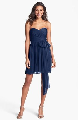 Jill Stuart Jill Pleated Silk Chiffon Sweetheart Dress