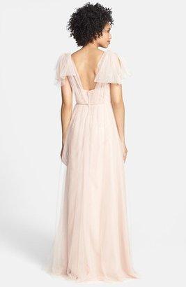 Jenny Yoo 'Annabelle' Convertible Tulle Column Dress