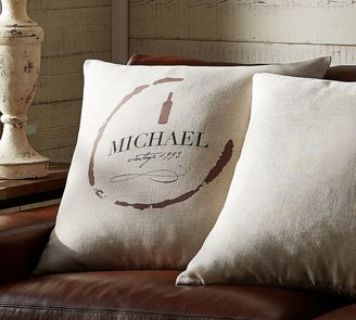 Pottery Barn Personalized Wine Pillow Cover