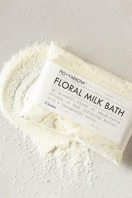 Anthropologie Fig + Yarrow Floral Milk Bath White One Size Fragrance