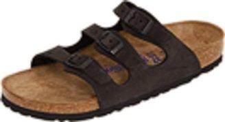 Birkenstock Women's Florida Soft Footbed Sandal,Black Leather,42 EU/11 B(M) US Women/9 D(M) US Men