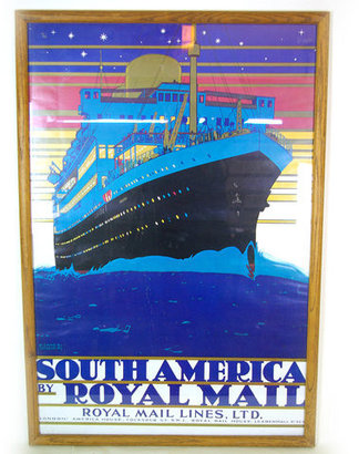 Modern Commissary Royal Mail South America Poster