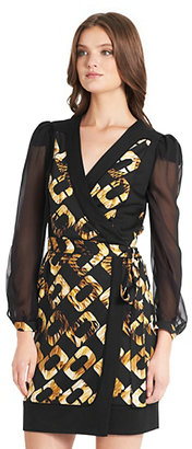 Fragments for Neiman Marcus Laila Chiffon Sleeve Wrap Dress