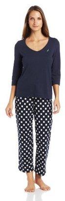 Nautica Sleepwear Women's Holiday Pajama Set