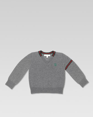 Gucci Extra-Fine Merino V-Neck Sweater