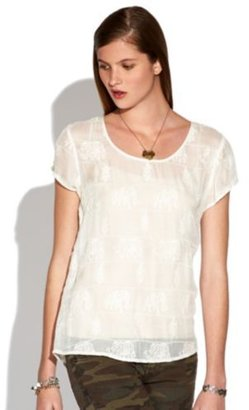 Lucky Brand Floating Elephant Top