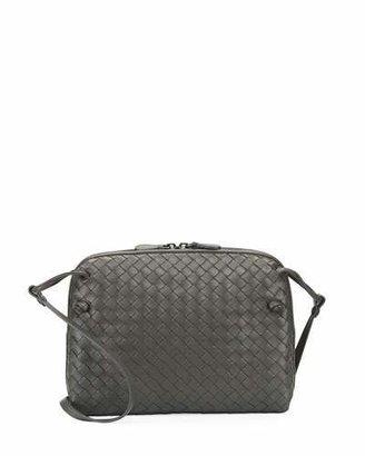 Bottega Veneta Intrecciato Messenger Bag, Gray $1,580 thestylecure.com