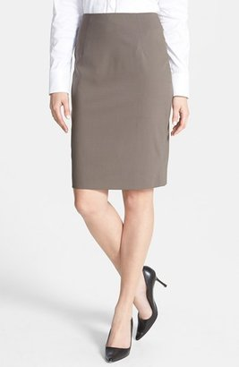 HUGO BOSS 'Vilina1' Stretch Wool Skirt