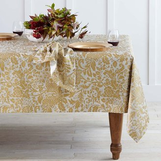 Williams-Sonoma Gold Damask Tablecloth