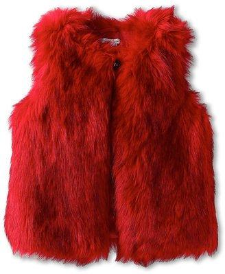 Little Marc Jacobs Faux Fur Vest (Toddler/Little Kids) (Pop Red) - Apparel
