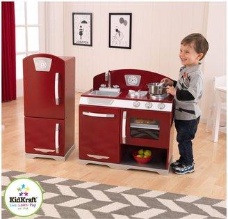 Kid Kraft 2 Piece Retro Kitchen Cranberry