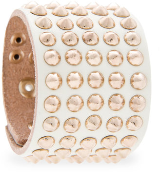 MANGO Spiked leather bracelet