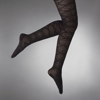 Vera Wang Simply vera abstract diamond sweater tights