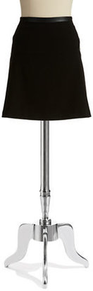 Calvin Klein Faux Leather Accented Skater Skirt