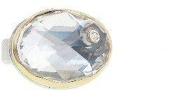 Jamie Joseph Oval Rose Cut Rock Crystal Ring