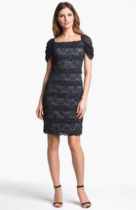 Patra Embellished Lace Sheath Dress
