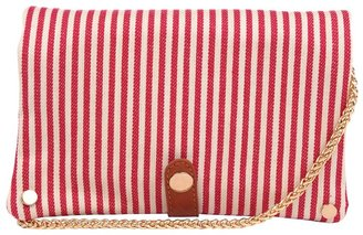 Tryst Style Bags Striped Clutch