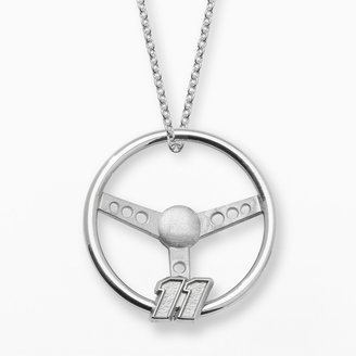 "Insignia Collection NASCAR Denny Hamlin Sterling Silver ""11"" Steering Wheel Pendant"