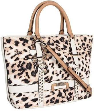 GUESS Caytie Small Carryall (White) - Bags and Luggage